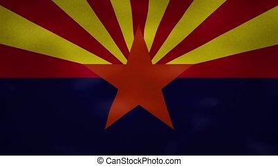 Arizona US dense flag fabric wavers, perfect loop for background