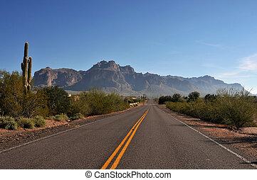 arizona, deserto, rodovia
