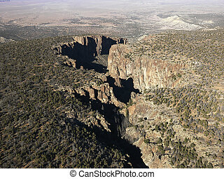 arizona, desierto, aerial.