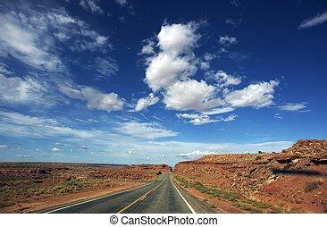 arizona, desierto, carretera
