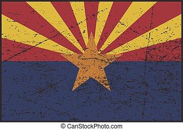 A grunged Arizona flag design