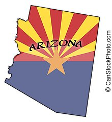 Arizona Flag In Map