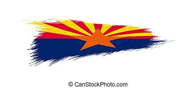 arizona, grunge, drapeau, nous, état, brush.