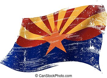 Arizona grunge flag - A flag of Arizona with a grunge...