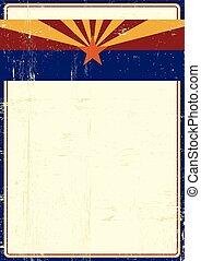 Arizona grunge poster