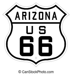 Arizona highway or route 66 sign - Highway or route 66 road...
