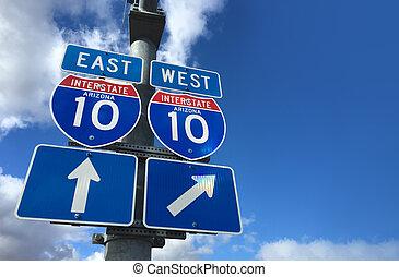 Arizona I10 East West Highway direc