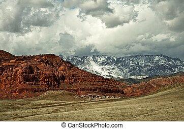 arizona, kleurrijke, landscape