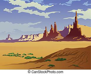 Arizona Landscape - Landscape of the Arizona desert.
