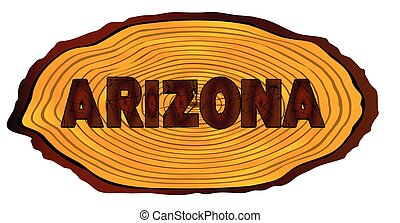 Arizona Log Sign