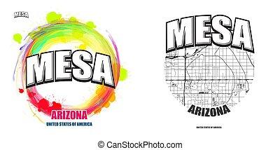 arizona, logo, tafelberg, gestaltungsarbeiten, zwei