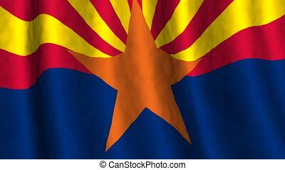 Arizona looping flag