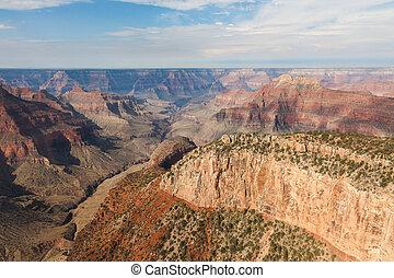 arizona, luchtopnames, nationaal park, cañon, voornaam, aanzicht