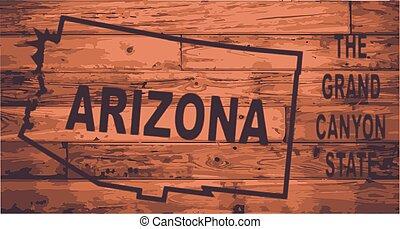 Arizona Map Brand