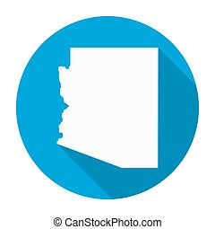 Arizona Map Flat Icon