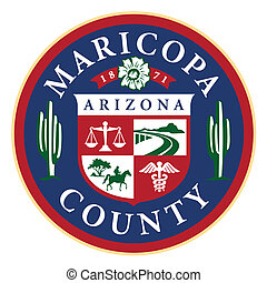arizona, maricopa hrabství, udat, pečeť, (phoenix)