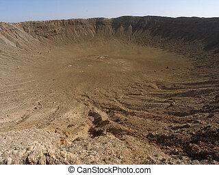 Arizona Meteor Crater - Impact site of meteor crater in...