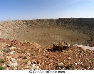 Arizona Meteor Crater - Meteor Crater in Arizona against...