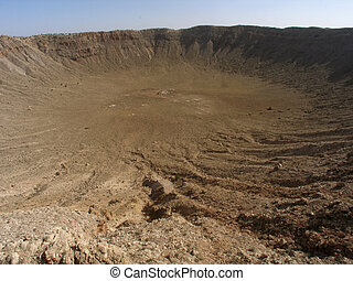 Arizona Meteor Crater - Impact site of meteor crater in...