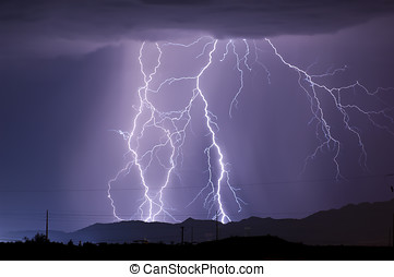 Arizona Monsoon Lightning 2010a - The first in a series of...