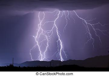 arizona, monsun, blixt, 2010a