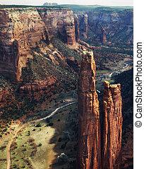 arizona, nacional, de, cañón, monumento, chelly
