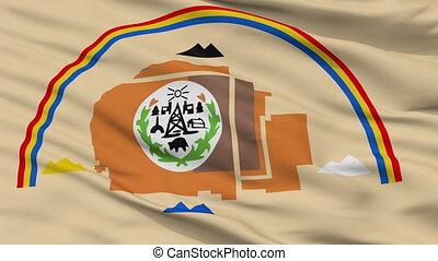 Arizona Navajo Indian Flag Closeup Seamless Loop - Arizona...