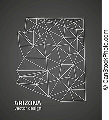 Arizona outline vector map, U.S.A. state