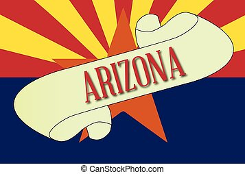 Arizona Scroll - A scroll with the text Arizona with the ...