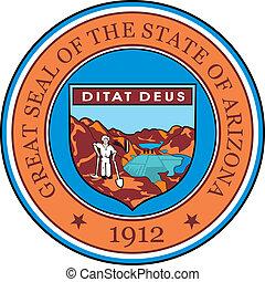 Arizona seal - Various vector flags, state symbols, emblems...