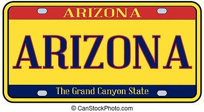 Arizona Spoof State License Plate - Arizona state license...