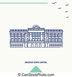 ARIZONA STATE CAPITOL skyline vector illustration