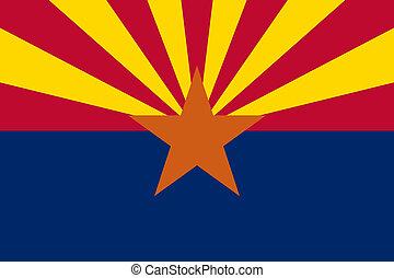Arizona State flag - Arizona state flag of America, isolated...