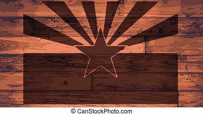 Arizona State Flag Brand