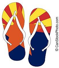 Arizona State Flag Flip Flop Shoes