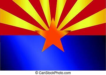 Arizona State Flag Gloss
