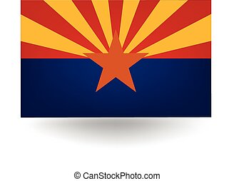 Arizona State Flag - Official flag of the state of Arizona.