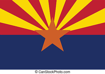 Arizona State Flag - The state flag of the  State of Arizona