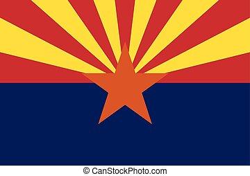 Arizona State Flag, USA. Vector Format