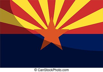 Arizona State Flag Woth Shadow
