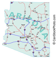 Arizona State Interstate Map