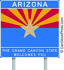 Arizona state road sign - Vector illustration of the Arizona...