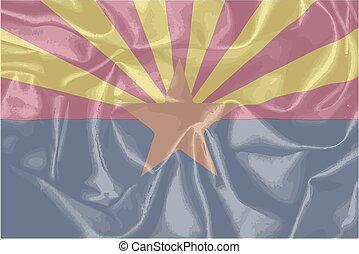 Arizona State Silk Flag