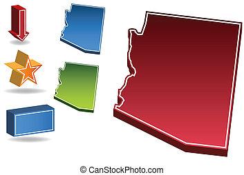 Arizona State - map of the state of Arizona.