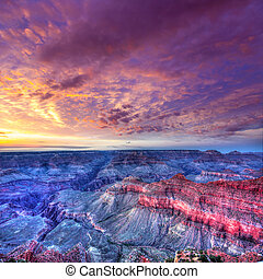 Arizona sunset Grand Canyon National Park Mother Point US