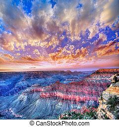 Arizona sunset Grand Canyon National Park Mother Point US -...