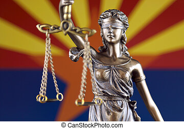 arizona, symbole, flag., justice, haut., droit & loi, état, fin