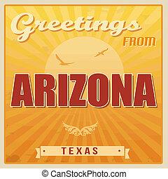 Arizona, Texas vintage poster