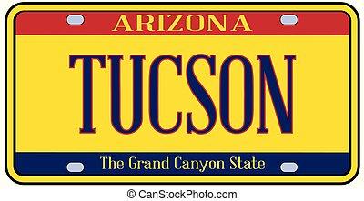 Arizona Tucson State License Plate - Tucson Arizona state...