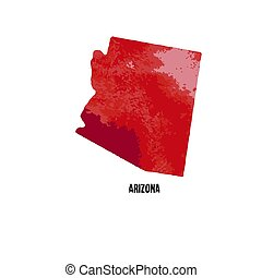 Arizona. United States Of America. Vector illustration. Watercolor texture.
